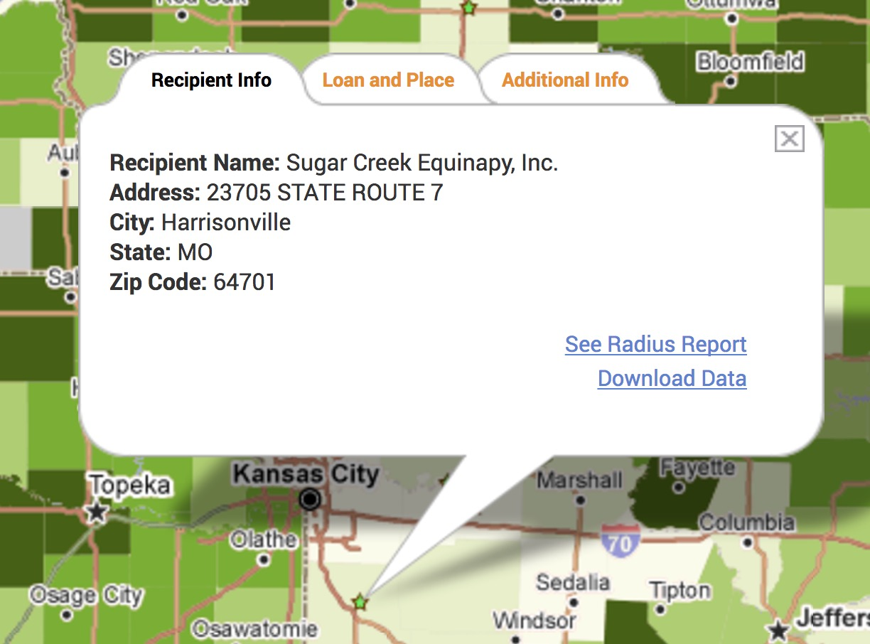 USDA Rural Housing PolicyMap Customer Story Infobubble