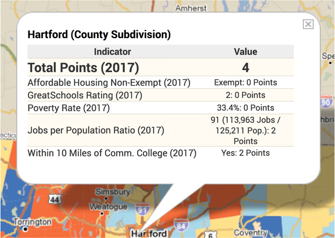 Connecticut Housing Finance Authority PolicyMap Customer Story Info Bubble
